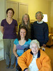 The welcoming committee, in Mom's new apartment.<br /> back; Sidney, Janet, Mas middle: Hilary, front: Mom
