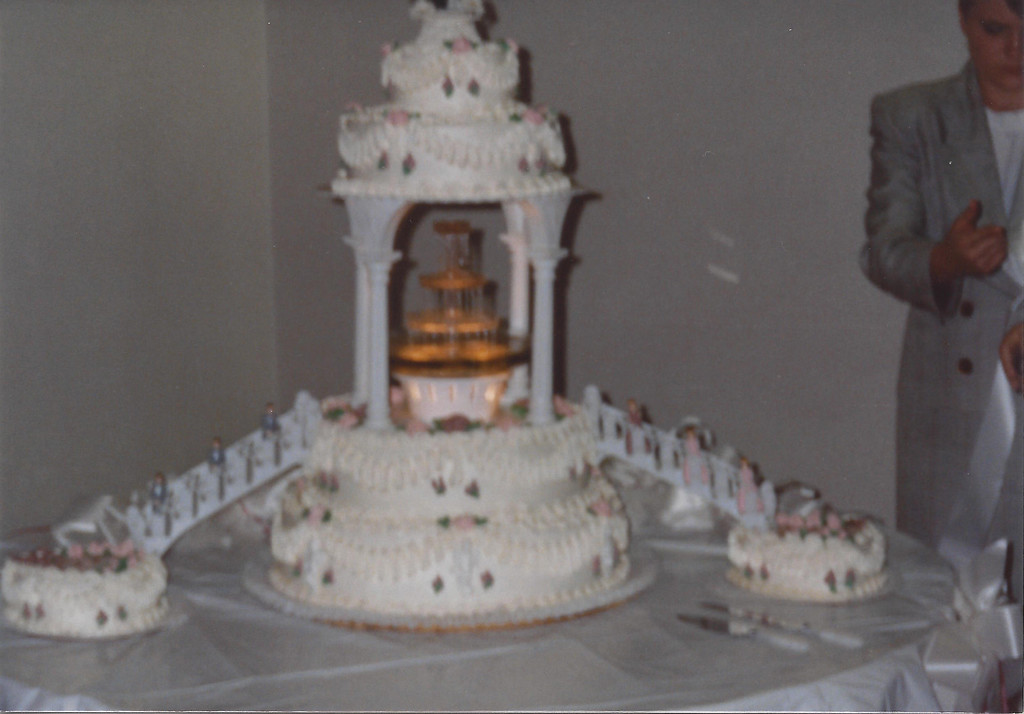 Mike and Jackie's wedding cake