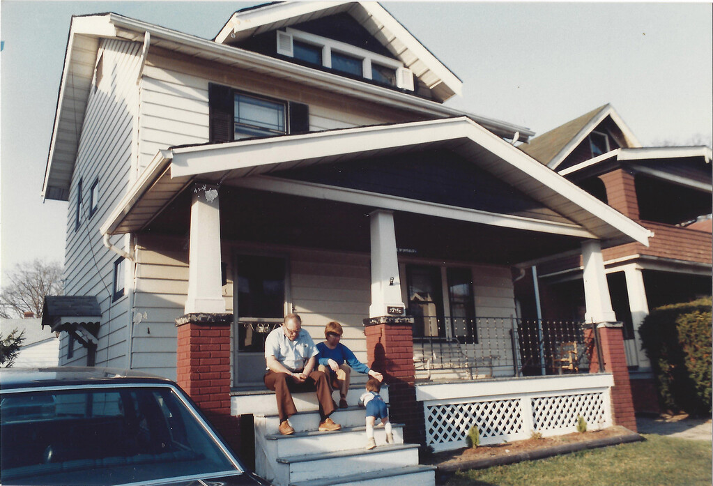 Mom, Dad, and Dan hanging out at their Linnet Avenue Home in Cleveland