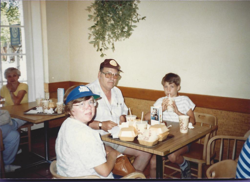 Mom, Dan, and my neighborhood friend Donald