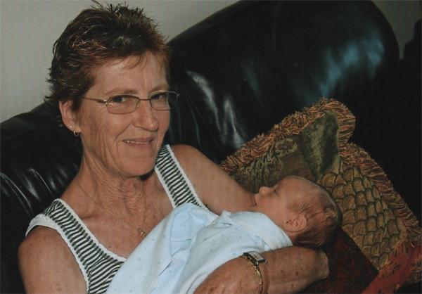 A Newborn Elliot with Grandma