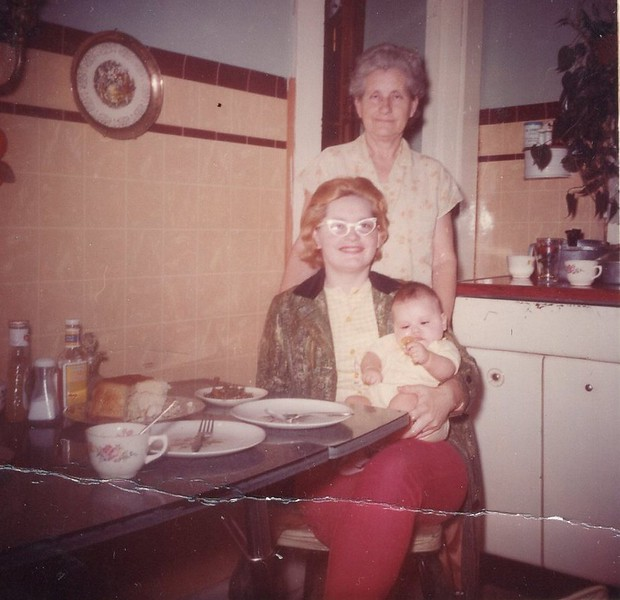 Mamaw Litton, Billie and Lynne, April 1966