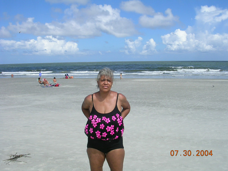 She loves the beach, especially the ones here On Hilton Head.