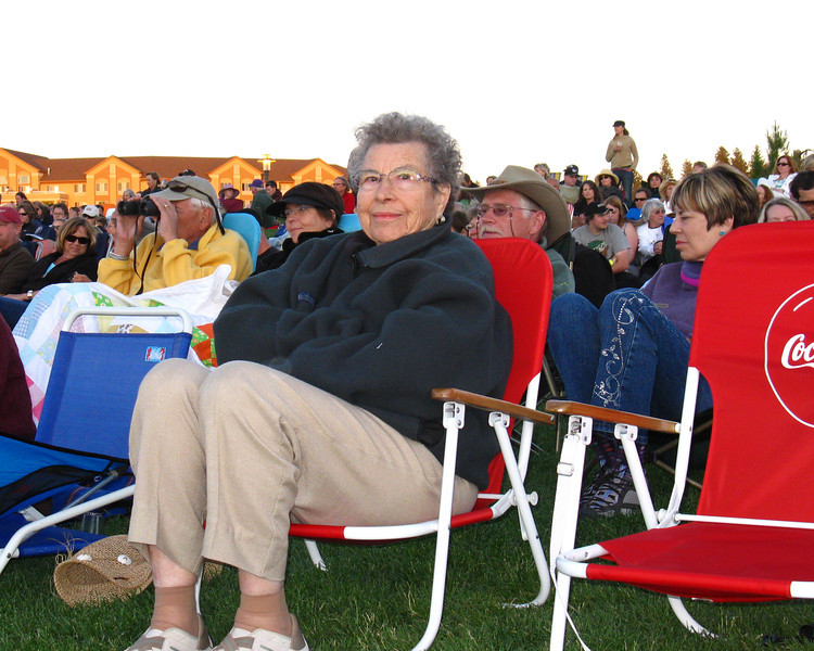 At an outdoor Alison Krauss concert in 2011 at age 94.