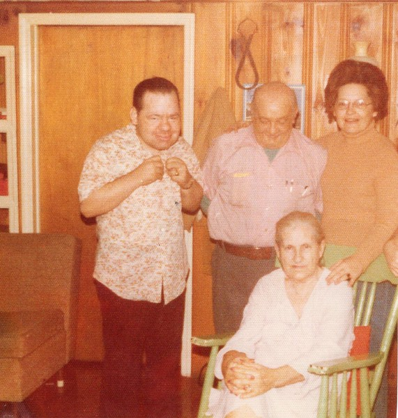 Jimmy, Papaw Litton, Bille, Mamaw Litton - 1976