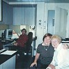 Mom in back with Linda and Beth at John Muir trauma unit, 2006