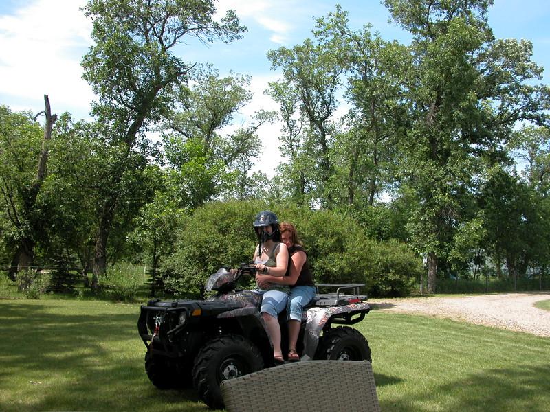 Katrina gives Mommy a ride.