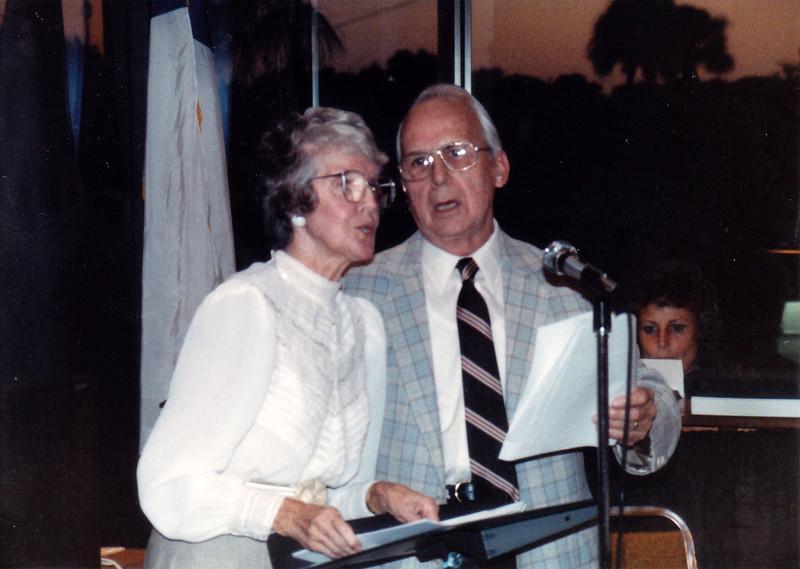 1987 singing a duet at Our Savior
