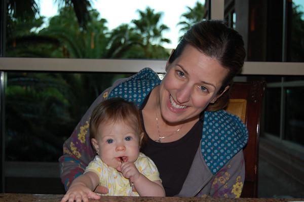 Julie & Kali at dinner