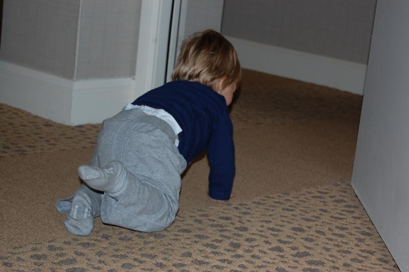 Elliot enjoying adjoining rooms