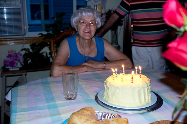 Mom's 87th Birthday,  July 3rd,  2012