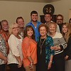 Charles, Linda, Keith, Janna, Garry, Jennifer, Clayton, Edwina, Chris, Bi, Wesley, Heather, Gary, Donna, & Jerry (l-r)
