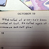 And that's the last entry in the diary.