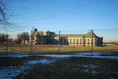 This was the Ohio State Reformatory until 1990. Since then, it's been the site of Hollywood films (Shawshank Redemption for one), tours, and Halloween events. We didn't get to go inside because it's closed in winter.