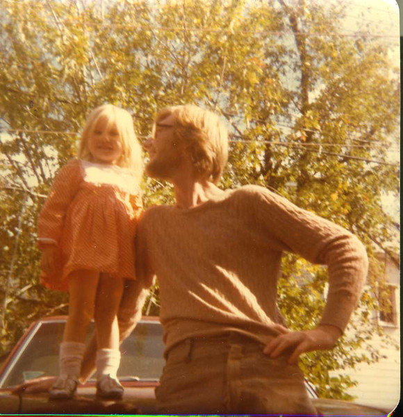 """A beautiful Fall day for Stacy & Daddy  - '77 """