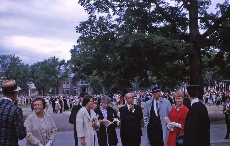 Family members at Dartmouth Commencement 1963.