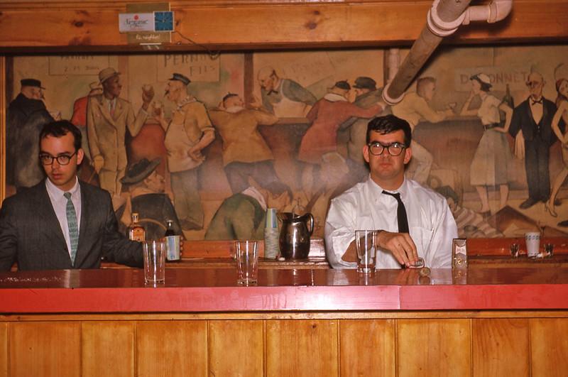 Rob and Mark in DKE  bar 1963.