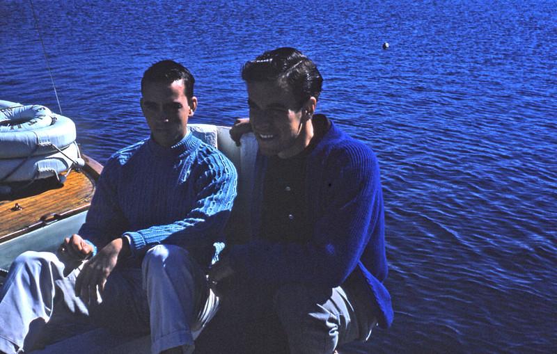 Rob and John at Falmouth 1958.
