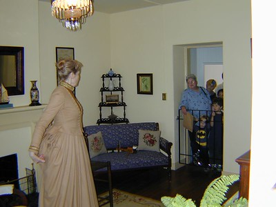Inside the Lighthouse, Mom in Background (Blue Shirt)