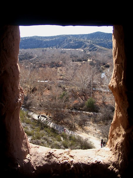 Gazing through a window from inside Montezuma Castle
