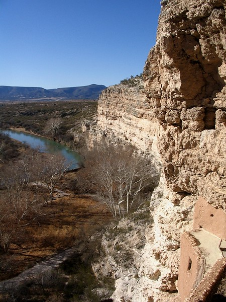 Looking west from the top of Montezuma Castle.