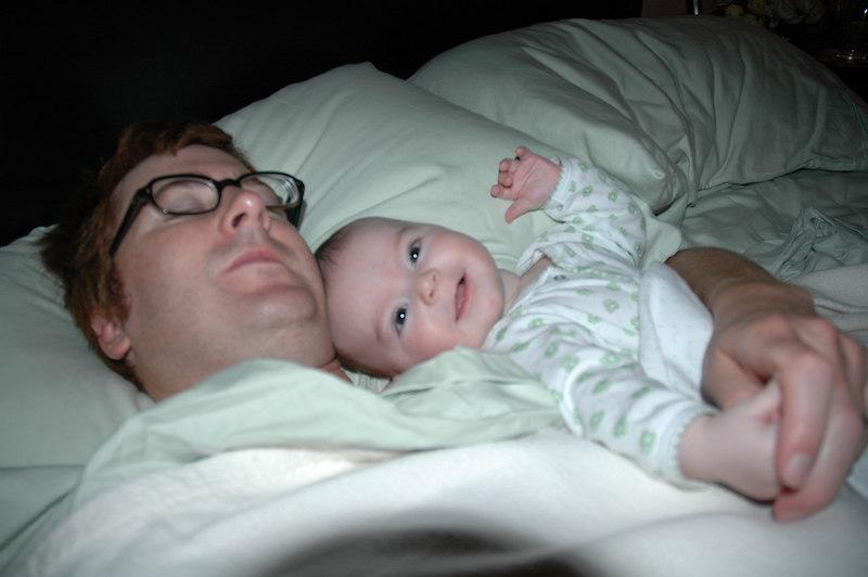 Shhh. . . Daddy's Sleeping