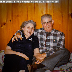 Ruth (Moon) Ford & Charles C Ford Sr.  Probably 1955.