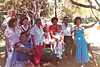 1988 Smith Reunion -  Roland, Myrtle, Wanda, Meg, Lou, Ashley, Leonard, Lou Anne; front - Laura, Will and Wade