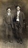 ROY HUGH BARRON AND FRIEND<br /> Roy Hugh Barron (Cora's brother on left; b Oct 3, 1895) and a friend.