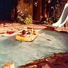 1975 - Doug and Matt in the pool on Twin Tree in Dallas