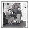 WANDA, GREG, AND JEFF WHITE<br /> Fort Hood housing, Fort Hood, Texas - Christmas 1954