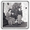 WANDA, GREG, AND JEFF WHITE<br /> Fort Hood housing, Fort Hood, Texas - Christmas 1954