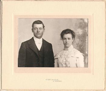WEDDING PHOTO Alfred and Cora Smith's wedding photo