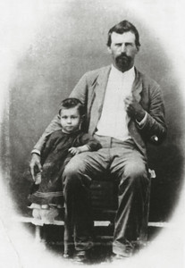 ALFRED ALEXANDER SMITH AND CHILD The child's name is unknown at this time, as there are no dates associated with this photo.