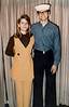KAREN BULLARD AND DOUG DUNCAN<br /> Duncan Home, Grand Prairie, Texas - April 4, 1971<br /> <br /> Showing off my work uniform before heading off to boot camp. Look how nice and new it looks.