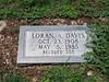 DAVIS, LORAN A<br /> San Saba City Cemetery, San Saba, Texas