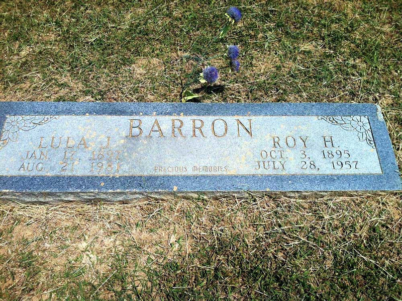 BARRON, ROY HUGH and LULA J<br /> Elizabeth Cemetery, Roanoke, Texas