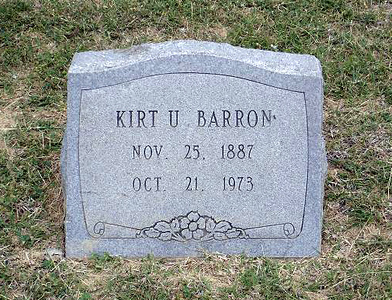 BARRON, KIRT U Elizabeth Cemetery, Roanoke, Texas