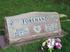 FOREHAND, FLOYD L and MARY LOU (WHITEHEAD)<br /> Senterfitt Cemetery, Lometa, Texas