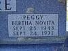 "MOORE, BERTHA NOVITA ""PEGGY"" (BRISTER)<br /> Lometa Cemetery, Section D, Lometa, Texas"