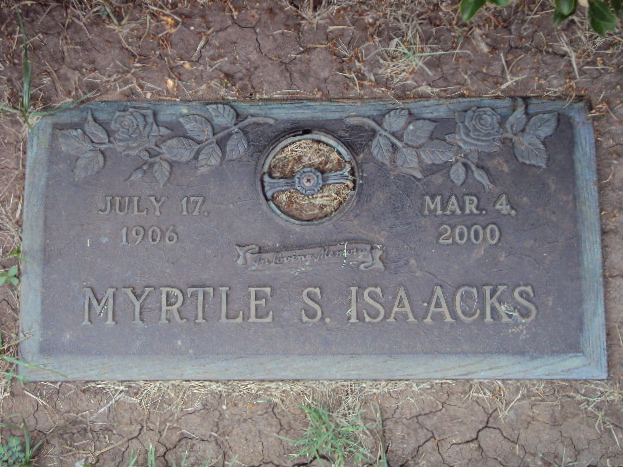 ISAACKS, MYRTLE DELMA (SMITH)<br /> Elmwood Memorial Park, Abilene, Texas