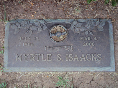 ISAACKS, MYRTLE DELMA (SMITH) Elmwood Memorial Park, Abilene, Texas