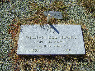 WILLIAM DEE MOORE - SERVICE STONE Lometa Cemetery, Section D, Lometa, Texas