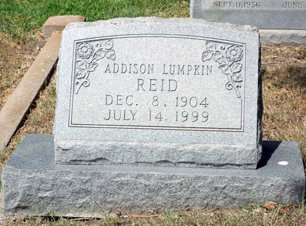REID, ADDISON LUMPKIN<br /> Odd Fellows Cemetery, Gonzales, Texas