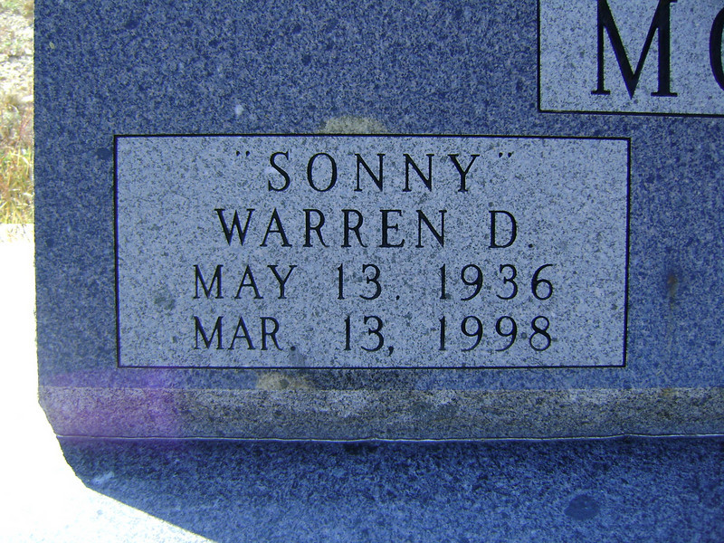 "MOORE, WARREN DEE ""SONNY""<br /> Lometa Cemetery, Section D, Lometa, Texas"