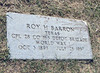 BARRON, ROY HUGH - SERVICE STONE<br /> Elizabeth Cemetery, Roanoke, Texas