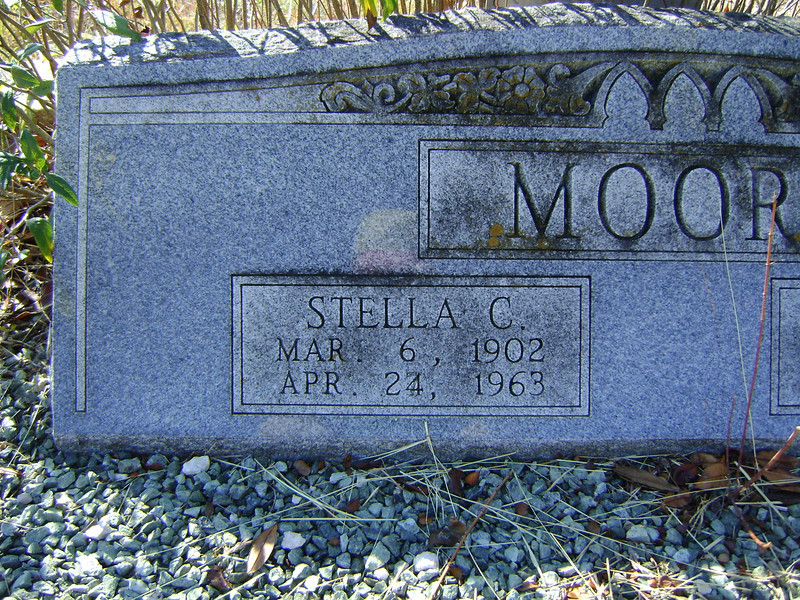 "MOORE, ESTELLE CLEMME ""STELLA"" (SMITH)<br /> Lometa Cemetery, Section D, Lometa, Texas"