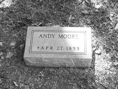 "MOORE, ANDREW J ""ANDY""  Jan 24, 1832 - Apr 27, 1893 Masonic Cemetery, Gonzales, Texas  [married to Virginia Tinsley of Gonzales]"