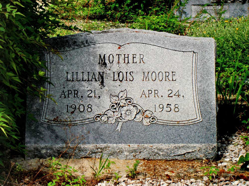 MOORE, LILLIAN LOIS (SMITH)<br /> Lometa Cemetery, Section D, Lometa, Texas<br /> <br /> Lois Smith married a fellow named Daniel Moore, but he was no relation to our line (William Dee's) of Moores, at least as far as we know.