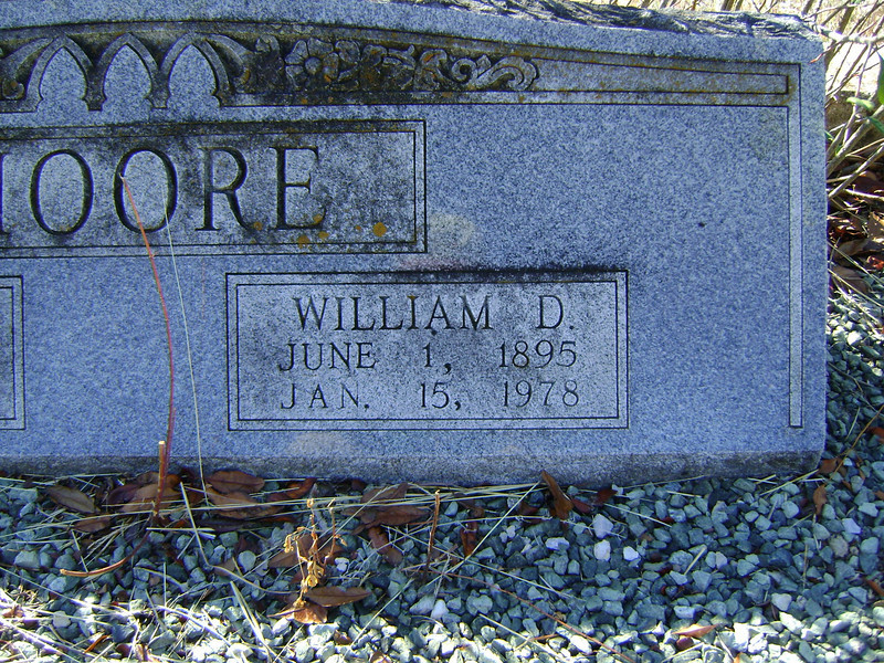 MOORE, WILLIAM DEE<br /> Lometa Cemetery, Section D, Lometa, Texas